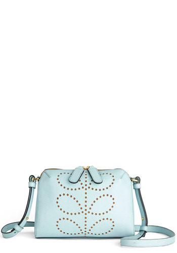 Orla Kiely Glam Night Out Bag by Orla Kiely - Blue, Luxe, Best, International Designer, Leather, Pastel, Spring