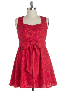 High Noon Harvest Dress in Hearts - Plus Size