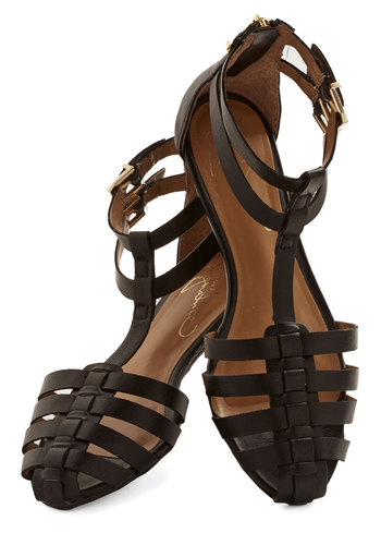 Same to You Sandal - Leather, Black, Spring, Summer, Flat, Better, Strappy, Solid