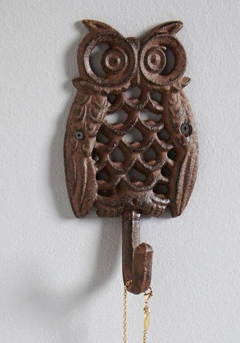 Keenly Organized Wall Hook - Bronze, Owls, Steampunk, Good, Critters