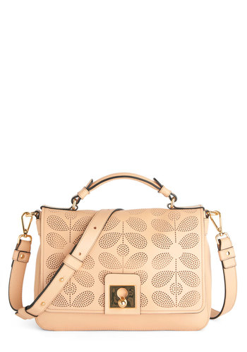 Orla Kiely Week to Chic Bag by Orla Kiely - Luxe, Best, International Designer, Leather, Pink, Solid, Pink, Spring