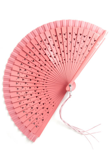 Hearts Set A-Flutter Fan - Pink, Solid, Summer, Tassels, Best, Pink, Social Placements, Top Rated