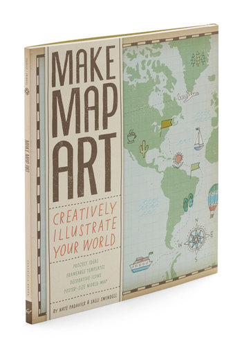 Make Map Art Kit by Chronicle Books - Multi, Travel, Good, Handmade & DIY