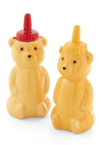 Yummy Bears Salt and Pepper Set - Multi, Quirky, Good, Yellow, Critters