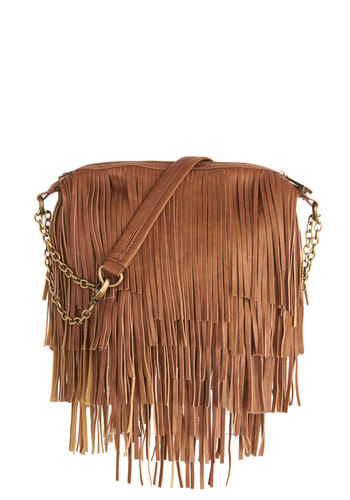 Girl's Best Fringe Bag by Steve Madden - Solid, Fringed, Boho, Better, Festival, Brown, Vintage Inspired, 70s, Statement