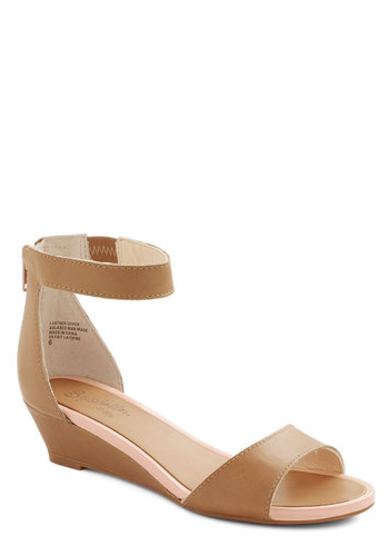 Sometimes Wedge by Seychelles - Low, Leather, Tan, Solid, Daytime Party, Minimal, Spring, Summer, Best, Wedge