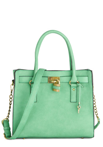 Full Course Load Bag in Mint - 14 inch - Mint, Solid, Work, Better, Variation, Studs, Faux Leather, Chain, Spring, Best Seller, Pastel, Green, Gals, Top Rated, Exclusives