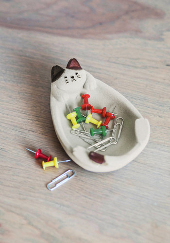 Kitty Little Things Jewelry Dish - Multi, Cats, Good, Dorm Decor, Critters, Under $20