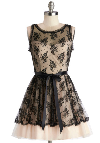 Rhythm Elation Dress - Pink, Black, Lace, Belted, Special Occasion, Prom, Party, A-line, Sleeveless, Better, Sheer, Woven, Lace, Short, WPI