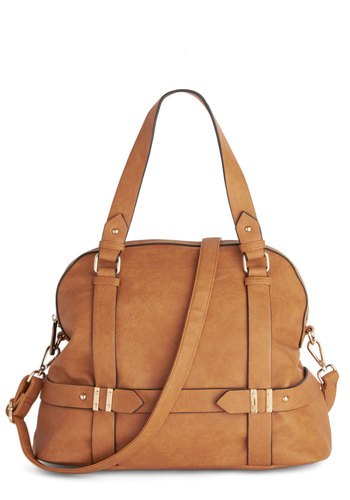 It's Business Time Bag - Brown, Solid, Work, Faux Leather, Social Placements, Rustic
