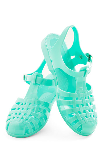 'Tis the Season to be Jelly Sandal in Mint - Low, Solid, Beach/Resort, Pastel, Summer, Good, Variation, Mint, Vintage Inspired, 90s, Festival