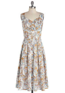 Still Life in Motion Dress in Boulevard