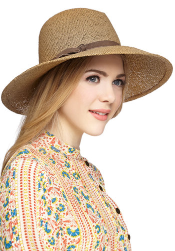 Safari Finesse Hat - Tan, Brown, Solid, Buckles, Safari, Festival, Spring, Summer, Americana