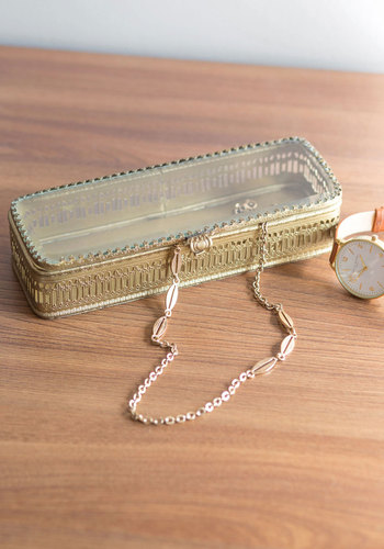 Fancy Up Your Flat Keepsake Box - Gold, French / Victorian, Steampunk, Better