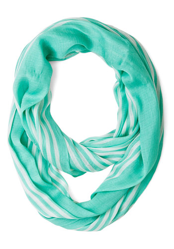 Rays on a Cloudy Day Scarf in Mint - Casual, Good, Variation, Basic, Green, Woven, Mint, White, Stripes
