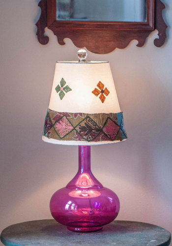 Eclectic Light Orchestra Lamp by Karma Living - Festival, Cotton, Woven, Boho, Purple, Best, Multi, Dorm Decor