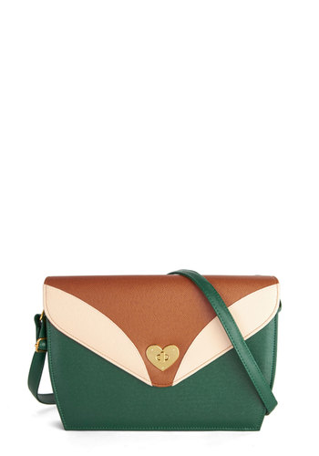 Heart of that World Bag - Green, Tan / Cream, Gold, Solid, Colorblocking, Faux Leather, Work, Boho, Safari, Statement, Urban, Top Rated, Fall