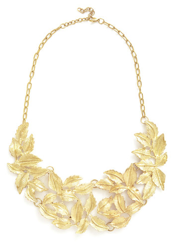 Leave to Chance Necklace - Solid, Statement, Gold, Better, Daytime Party, Spring, Social Placements
