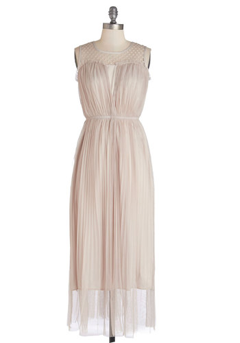 Stunned Silence Dress - Pink, Lace, Pleats, Wedding, Bridesmaid, Maxi, Sleeveless, Better, Sheer, Knit, Woven, Lace, Long, Pastel
