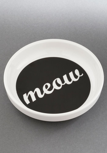Feline and Dine Dish - Multi, Cats, Good, Black, White, Novelty Print, Under $20