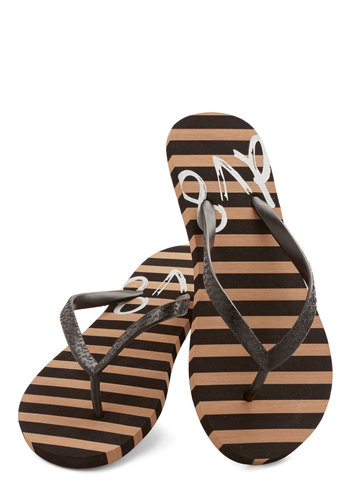 Go Boardwalking Sandal in Black by Dolce Vita - Flat, Black, Casual, Beach/Resort, Summer, Variation