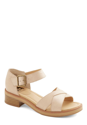 Pier Promenade Sandal by BC Footwear - Low, Leather, Tan, Solid, Better, Casual