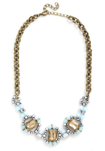 Make a State-mint Necklace - Mint, Multi, Solid, Rhinestones, Statement, Good, Gold, Beads, Special Occasion