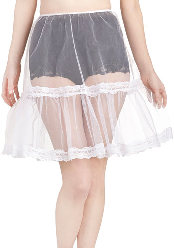Loving the Spin I'm In Petticoat in White - Woven, White, Solid, Trim, Wedding, Bride, Lace, Variation