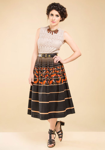 Vintage Woodpecker Stock Skirt