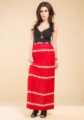 Vintage Crimson and Clothier Skirt
