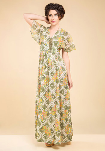 Vintage Cosmic Blooms Dress