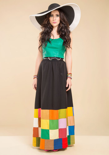 Vintage Sunset Set List Skirt