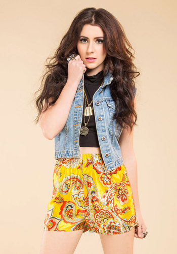 Vintage Paisley in Love Shorts
