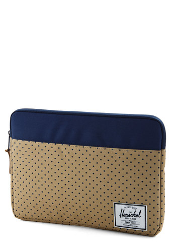 Weekend Market Laptop Sleeve - 13 inch by Herschel Supply Co. - Blue, Polka Dots, Travel, Woven, Tan, Scholastic/Collegiate, Graduation, Gals