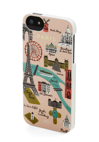 Streets of Paris iPhone 5/5S Case by Rifle Paper Co - Pink, Multi, French / Victorian, Pink, Novelty Print, Gals, Social Placements