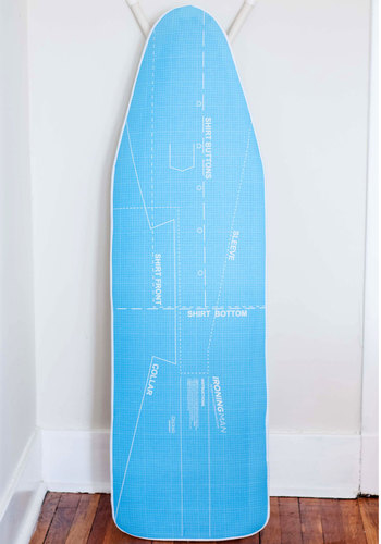 Full Steam Ahead Instructional Ironing Board Cover - Cotton, Nifty Nerd, Good, Blue, White