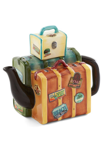 Pack Your Tea Bags! Teapot - Multi, Travel, Better, Novelty Print, Hostess