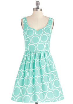Air of Adorable Dress in Dotted Mint