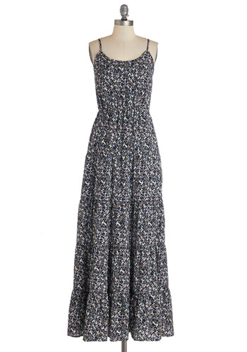 Easy Come, Easygoing Dress - Multi, Print, Casual, Maxi, Spaghetti Straps, Better, Scoop, Woven, Long, Summer