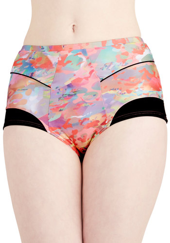 Blend of Beauty Swimsuit Bottoms - Multi, Print, Trim, Beach/Resort, Urban