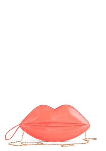 Who Got the Smooch? Bag by Kling - Pink, Gold, Solid, Quirky, Better, Fruits