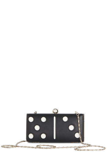 Classic Fun Clutch by Kling - Black, White, Silver, Quirky, Better, Novelty Print