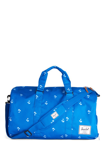 Palm and Collected Weekend Bag by Herschel Supply Co. - Blue, Print, Travel, Better, Blue, Work, Luxe, Statement, Urban