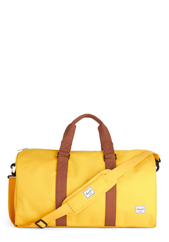 Get Curried Away Weekend Bag by Herschel Supply Co. - Yellow, Solid, Travel, Better, Spring, Summer