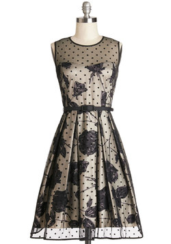 Leave Them Breathless Dress in Monochrome
