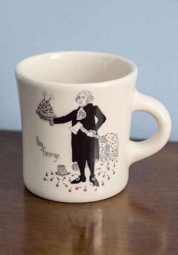 Oh Boy, George Mug - Nifty Nerd, Good, White, Black, Guys