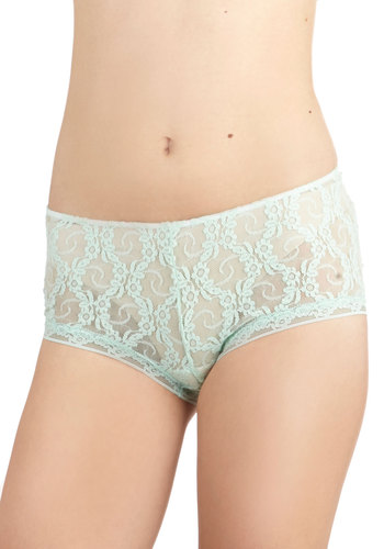 I Woke Up Like Bliss Undies by Only Hearts - Lace, Wedding, Bridesmaid, Vintage Inspired, Darling, Sheer, Knit, Lace, Mint, Solid, Pastel, Boudoir