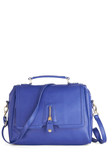 Cobalt Charisma Bag - Blue, Solid, Work, Best, Faux Leather