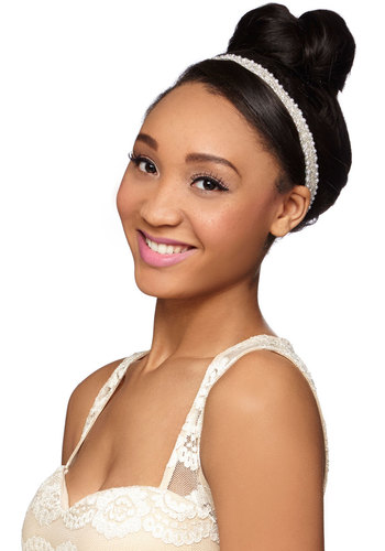 Let's Bead Together Headband - White, Black, Solid, Beads, Pearls, Special Occasion, Wedding, Better, White, Bride