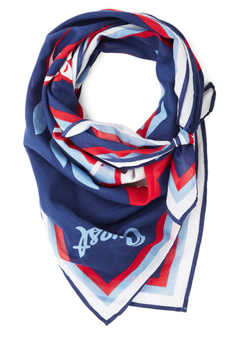 Always an Adventure Scarf by Blutsgeschwister - Blue, Red, White, Print, Best, International Designer, Cotton, Woven, Travel